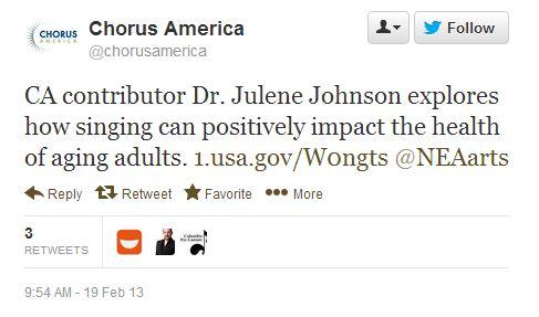 Chorus America Tweet1