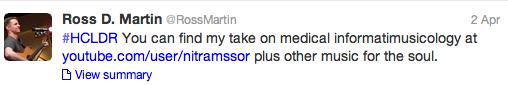 Ross Martin Tweet 1