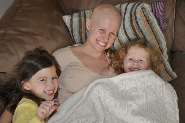 Molly Lindquist with her girls