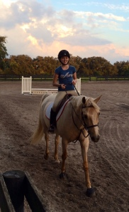 Morgan Gleason on a beutiful horse