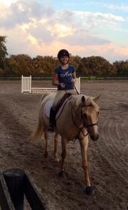 Morgan Gleason on a beutiful horse