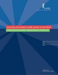 AAMC Report Cover - Advancing the Academic Health System for the Future