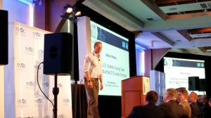 Sky Christopherson at #DHC14 talking about the triumph of data over drugs by US Olympic Women's Cycling team.