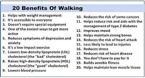 Picture 2 - Benefits of Walking